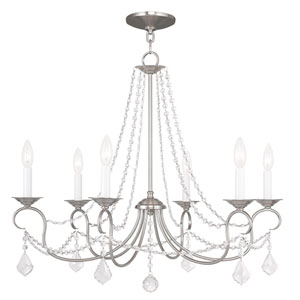 Pennington Brushed Nickel Six Light Chandelier