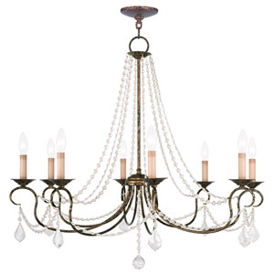 Pennington Venetian Golden Bronze Eight Light Chandelier