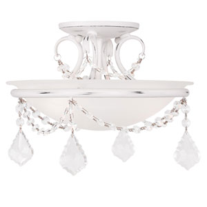 Pennington Antique White Two Light Ceiling Mount