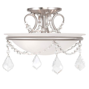 Pennington Brushed Nickel Two Light Ceiling Mount