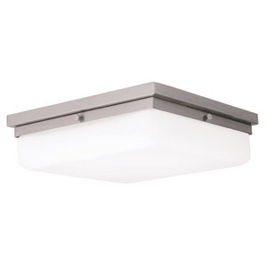 Allure Brushed Nickel 13-Inch LED Flush Mount