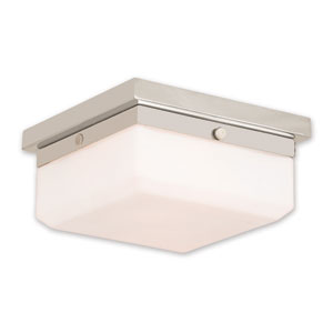 Allure Polished Nickel Two-Light 8-Inch Flush Mount