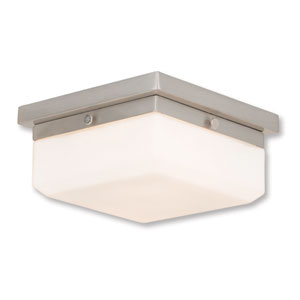 Allure Brushed Nickel Two-Light 8-Inch Flush Mount