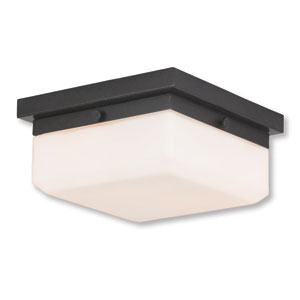 Allure English Bronze Two-Light 8-Inch Flush Mount