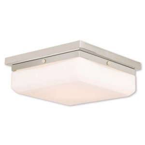 Allure Polished Nickel Three-Light 11-Inch Flush Mount