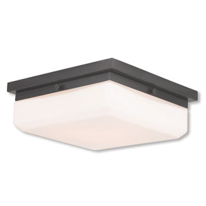 Allure English Bronze Three-Light 11-Inch Flush Mount