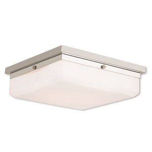 Allure Polished Nickel Four-Light 13-Inch Flush Mount
