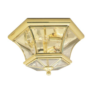 Outdoor Polished Brass Flush Mount