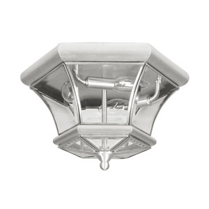Outdoor Brushed Nickel Flush Mount