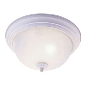 Home Basics White Three-Light Ceiling Mount