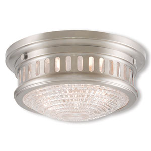 Berwick Brushed Nickel Two-Light 11-Inch Ceiling Mount