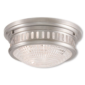 Berwick Brushed Nickel Two-Light 13-Inch Ceiling Mount