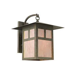 Verde Patina Finish Outdoor Wall Mounted Light