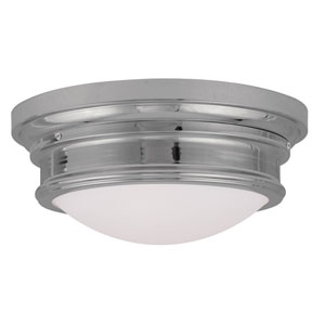 Chrome Three-Light Ceiling Mount