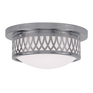 Westfield Brushed Nickel Two-Light Ceiling Mount
