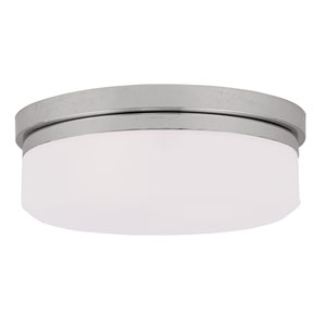 Chrome Two-Light Ceiling Mount