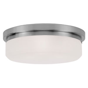 Brushed Nickel Three-Light Ceiling Mount