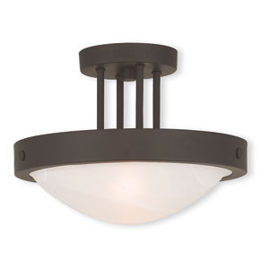 New Brighton Bronze 12.5-Inch Two-Light Semi Flush Mount