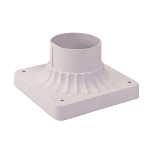 White Outdoor Pier Mount Adaptors