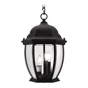 Kingston Black Outdoor Lantern