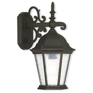 Hamilton Textured Black 8-Inch Three-Light Outdoor Wall Lantern
