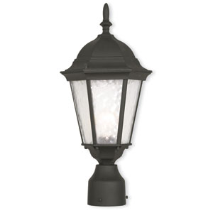 Hamilton Textured Black 8-Inch One-Light Outdoor Post Lantern