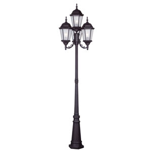 Hamilton Bronze Four-Light Outdoor Post Mount