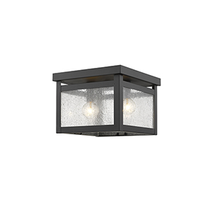 Milford Bronze Two-Light Ceiling Mount