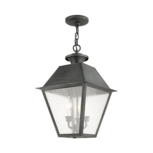Mansfield Charcoal Three-Light Outdoor Chain Hang