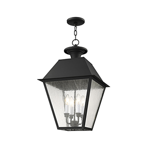 Mansfield Black Four-Light Outdoor Chain Hang