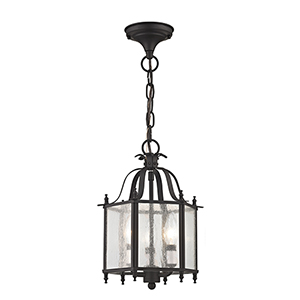 Legacy Bronze Three-Light Convertible Chain Hang/Ceiling Mount