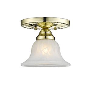 Edgemont Polished Brass Single Light Ceiling Mount