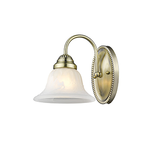 Edgemont Antique Brass Single Light Bath Fixture