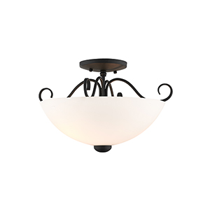 Heritage Black Two-Light Ceiling Mount