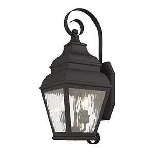 Exeter Bronze Two-Light Outdoor Wall Lantern
