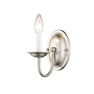 Home Basics Brushed Nickel Wall Sconce