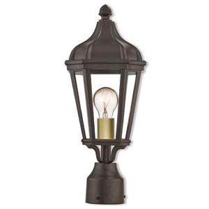 Morgan Bronze 7-Inch One-Light Outdoor Post Top Lantern