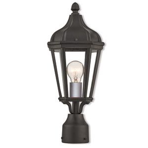 Morgan Textured Black 7-Inch One-Light Outdoor Post Top Lantern