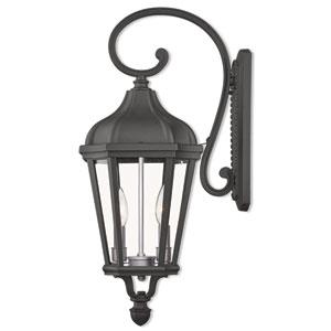 Morgan Textured Black Two-Light Outdoor Wall Lantern