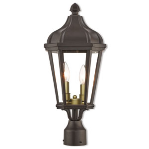 Morgan Bronze 9-Inch Two-Light Outdoor Post Top Lantern