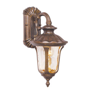 Oxford Gold Small Down Outdoor Wall Mount