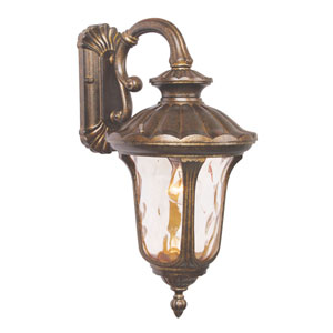 Oxford Gold Medium Down Outdoor Wall Mount