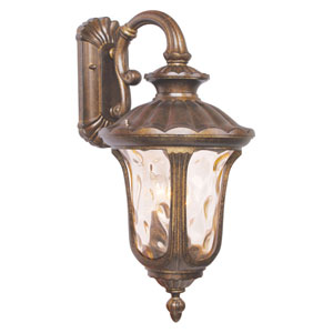 Oxford Gold Large Down Outdoor Wall Mount