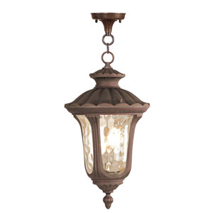 Oxford Imperial Bronze Three-Light Exterior Lantern Fixture