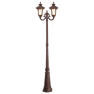 Oxford Bronze Two-Light Outdoor Post Mount with Post