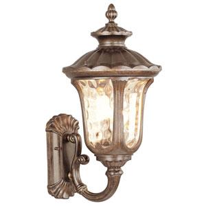 Oxford Moroccan Gold Three-Light Exterior Lantern Fixture