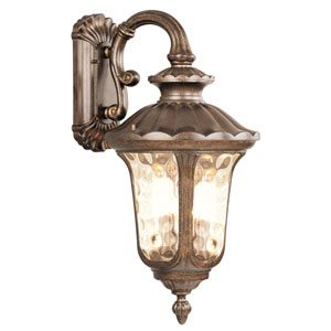 Oxford Moroccan Gold Three-Light Exterior Lantern Fixture
