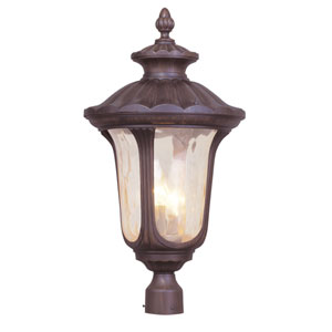 Oxford Imperial Bronze Three-Light 26.5-Inch Outdoor Post Mount