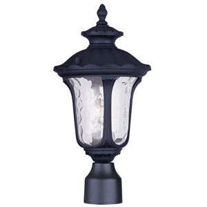Oxford Black One Light Outdoor Post Head