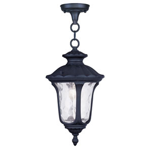 Oxford Black One Light Outdoor Chain Hang